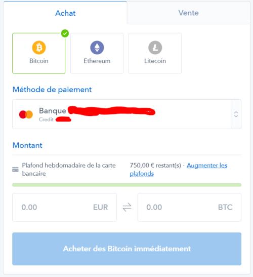 Acheter des bitcoins, ethereums et litecoins par carte bancaire sur coinbase