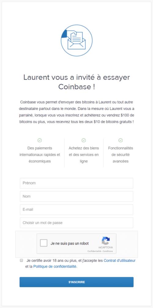 Acheter des bitcoins sur coinbase - etape une